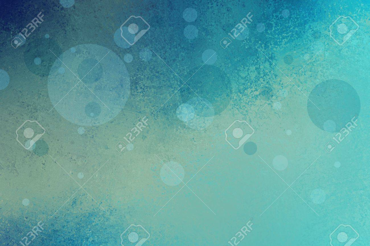 cool blue background with yellow lighting and soft floating bubbles or circles in random pattern, abstract blue background design for graphic art projects and website, teal blue color - 46532284