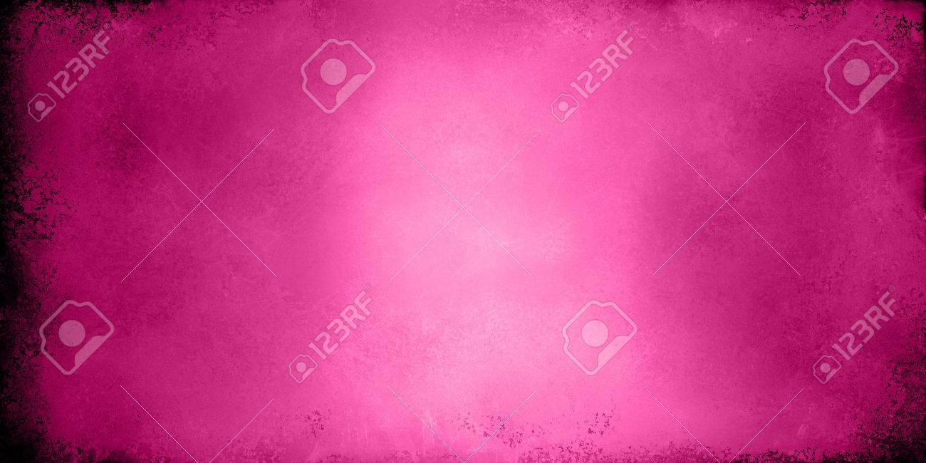 pink background valentines day image, solid hot pink or neon pink color with old distressed grunge textured border - 47207784