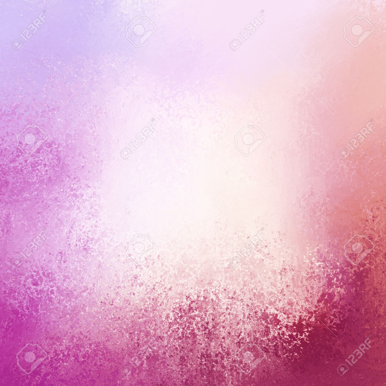 pretty pink background with purple grunge border and white center Stock Photo - 47207822