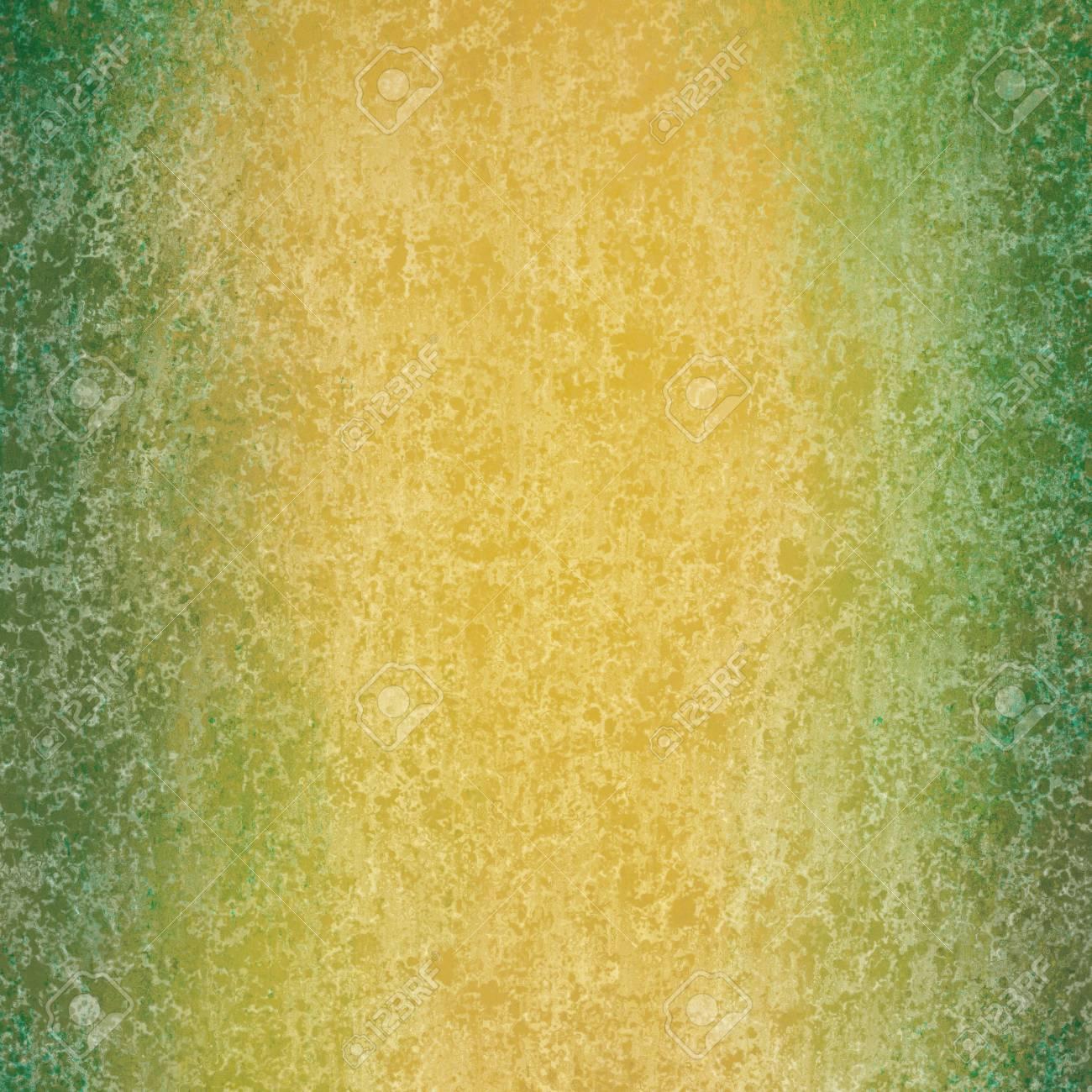 Abstrakt Grün Und Gold Hintergrund Mit Strukturierten Weißen Schwamm ...