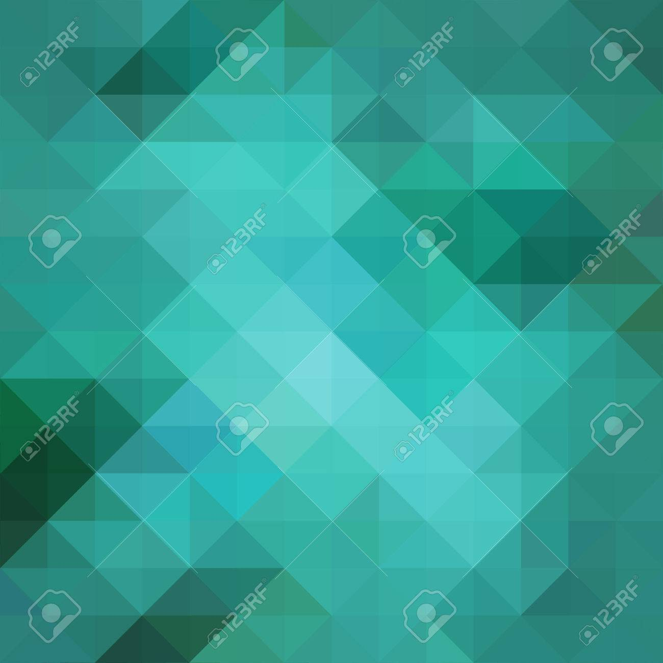 abstract blue low poly background with facets, teal blue triangle and square shapes in geometric modern pattern design, trendy cool 3d pattern design with gloss or shiny stained glass mosaic style - 47465341