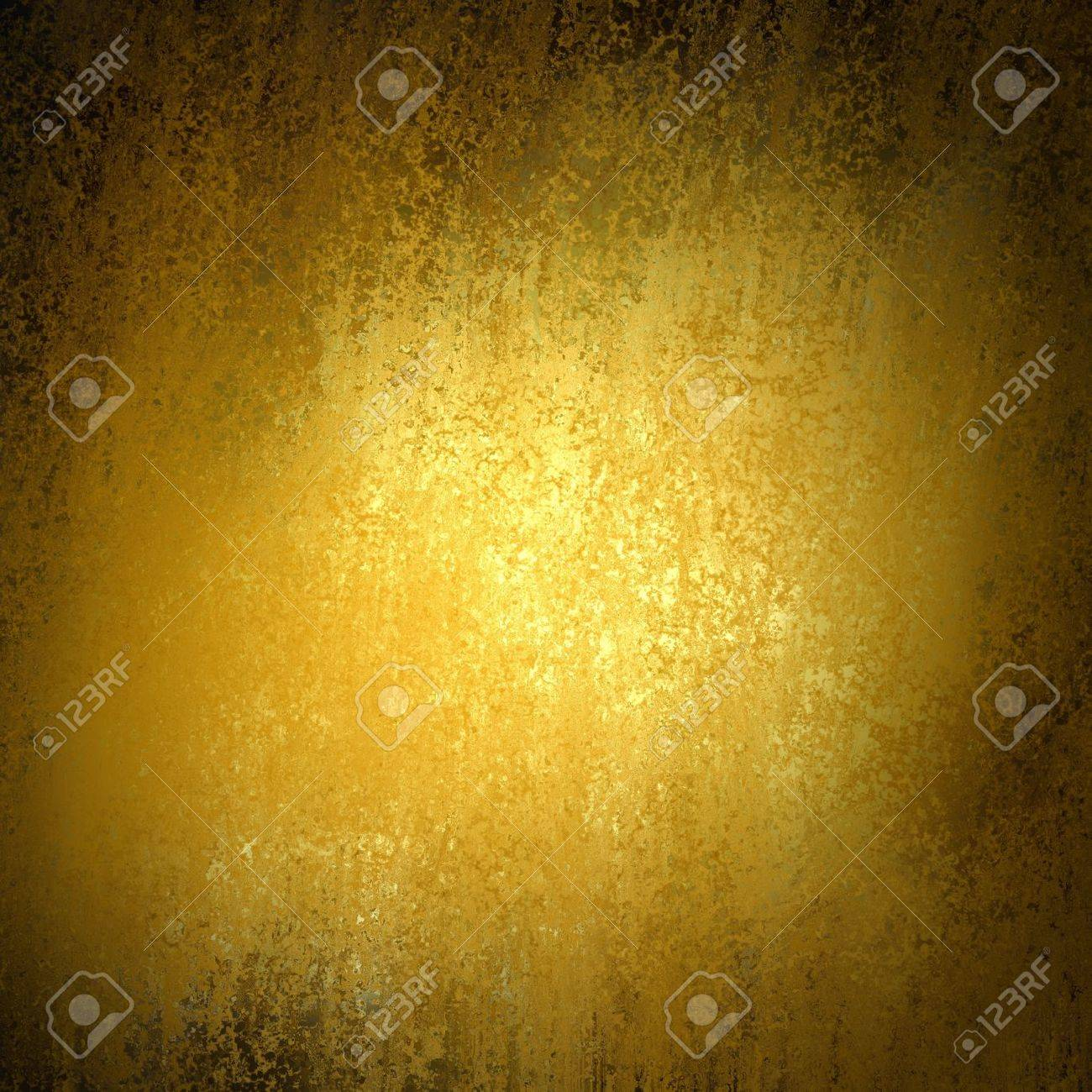 vintage gold background texture with dark black vignette border, old luxury background with shiny flecks of gold paint, yellow background - 47465345