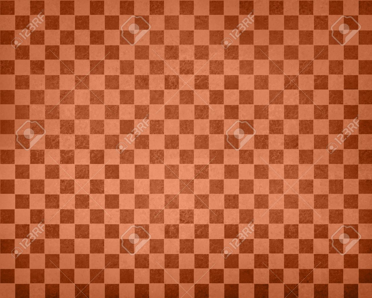 Vintage Checkered Background Pattern Rows Of Brown Orange Squares Stock Photo Picture And Royalty Free Image Image 56270005