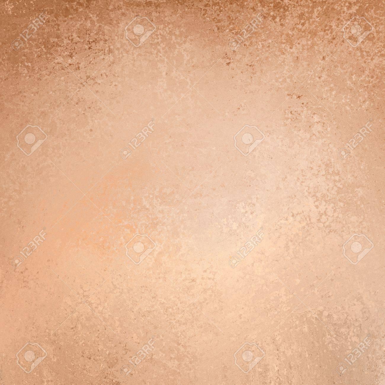 Light Brown And Peach Paper Background With Fine Grunge Texture Old Worn Vintage Design