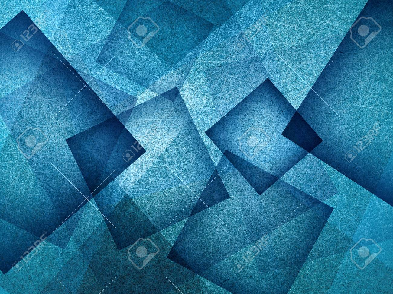 blue background with rectangle and diamond shapes in transparent layers floating in the sky, cool artsy background design - 62048177