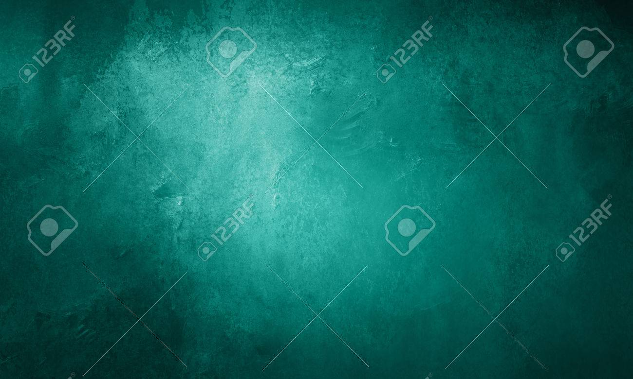abstract teal blue background with shiny metallic surface with pitted scuff marks and vintage texture - 62145296