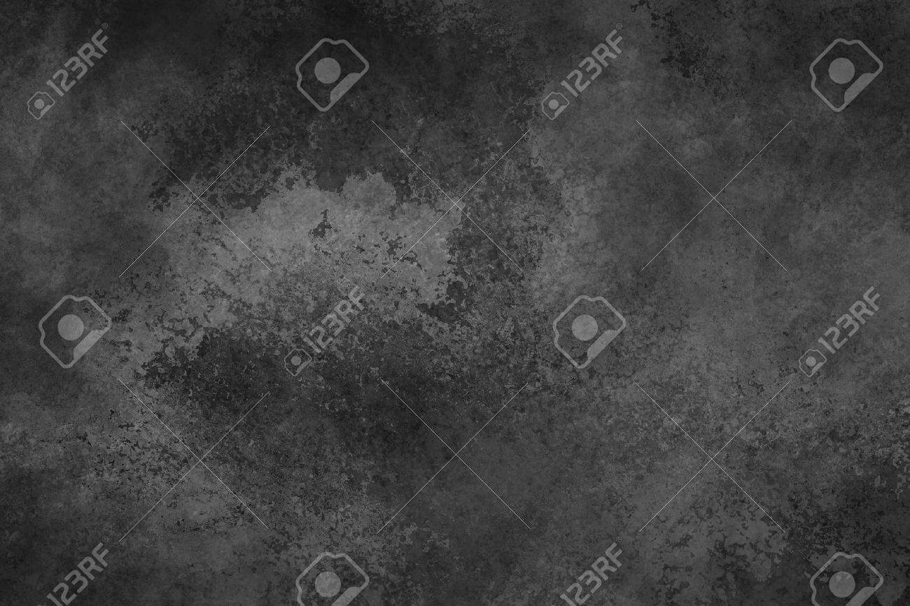 black background with vintage faded white watercolor wash texture, large black background - 62861487