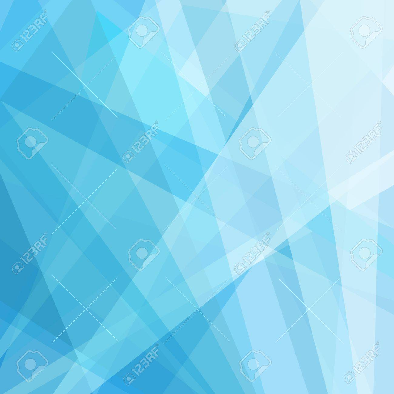 Abstract Geometric Blue And White Background Fresh Clean Lines