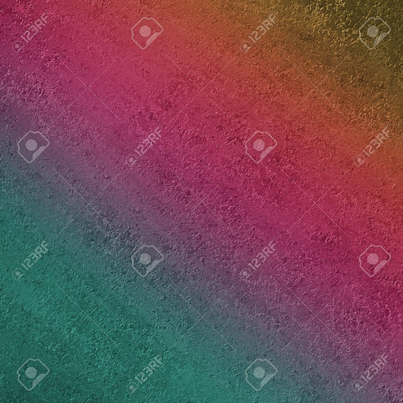 Conception De Fond Texturé De Mur De Plâtre Rugueux Avec Des Couleurs De Peinture Dégradé Incliné De Vert Bleu Or Orange Rose Et Violet