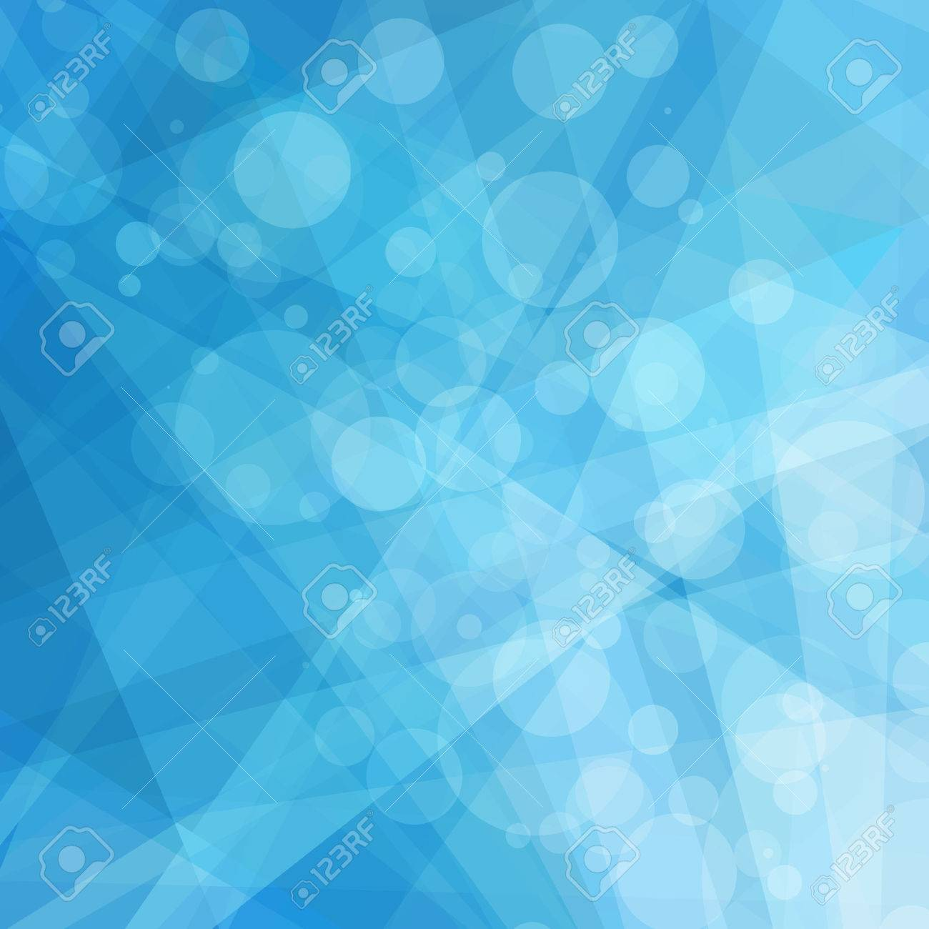 Abstract Geometric Blue And White Background Bright Shades Of