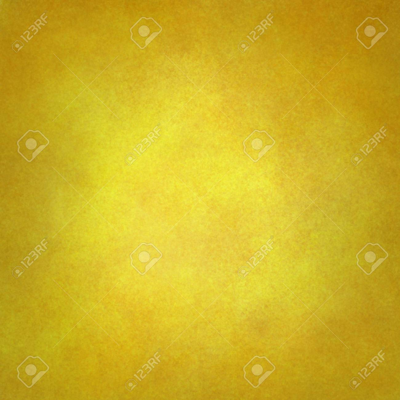 Gold Yellow Background With Texture And Faint Vignette Border ...