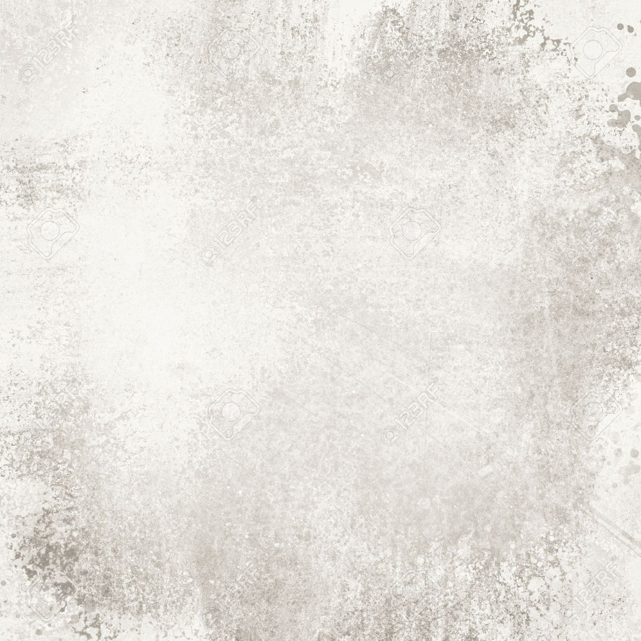 old white paper background with distressed vintage texture, faded sponged gray paint on weathered cement wall concept - 74726657