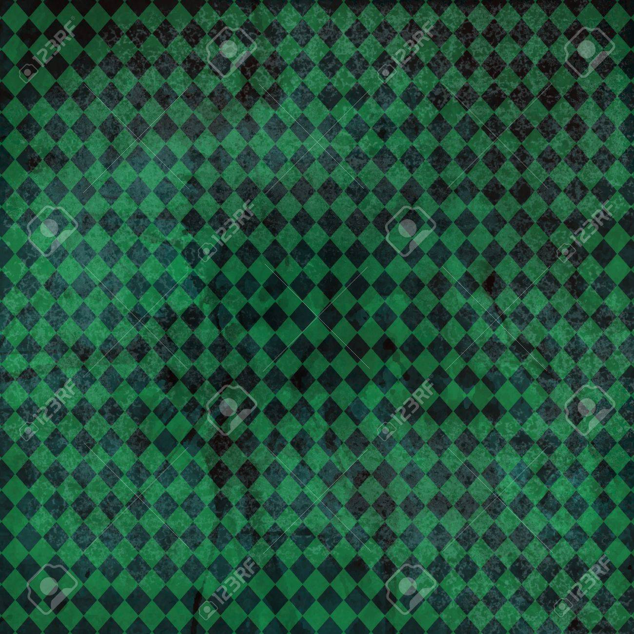 Vintage Background Checkered Blue Green Pattern With