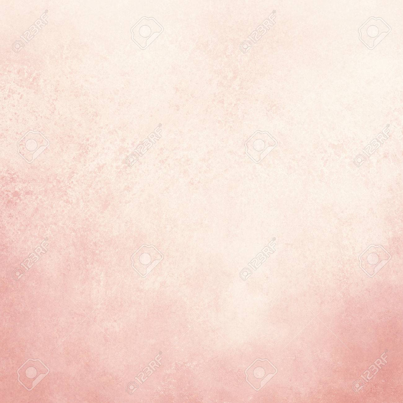 Vintage Old White Paper Background With Distressed Pink Grunge
