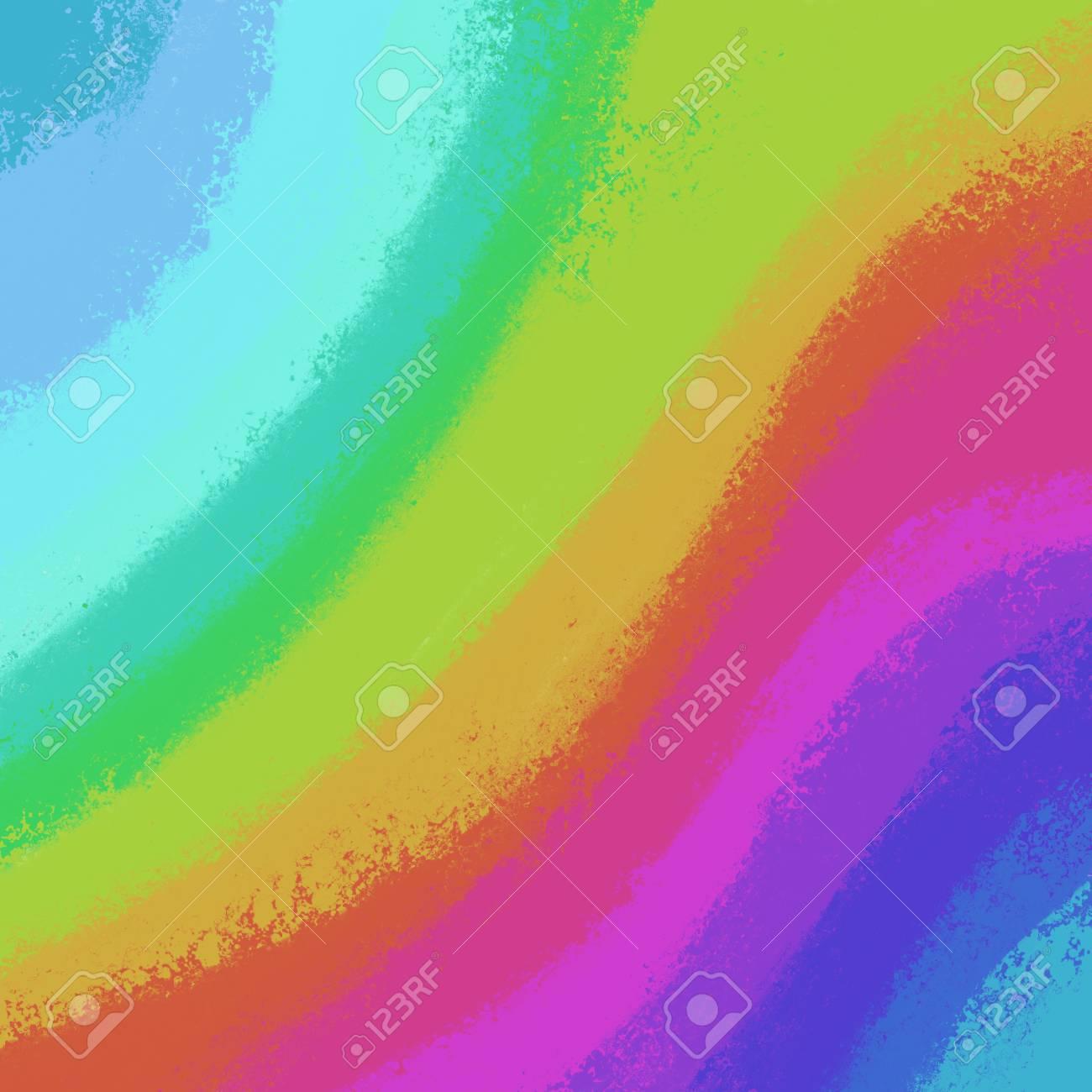 Sfondo Colorato Nelle Tonalità Dellarcobaleno In Azzurro Rosso Viola Verde Rosa Viola Arancione Giallo E Viola Linea Ondulata Modello Di Vernice