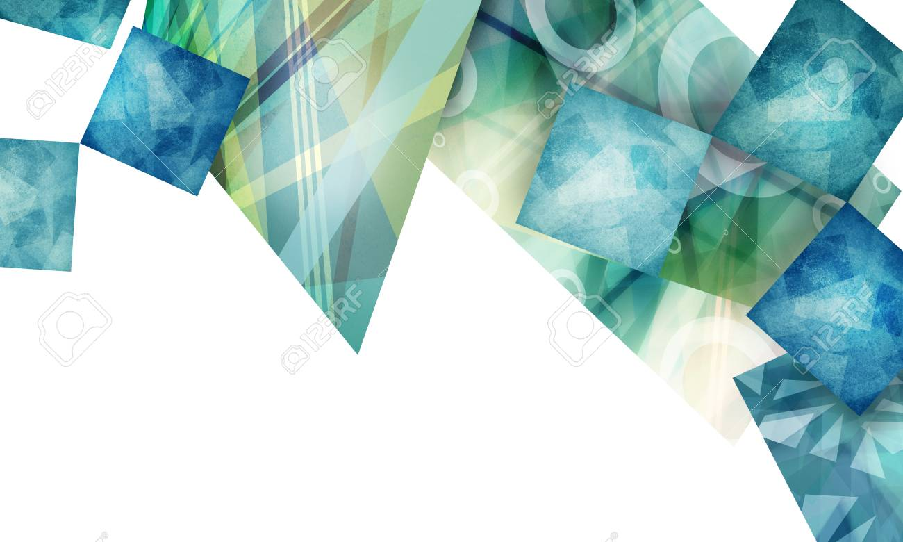 Transparent Geometric Shard Design Abstract Triangle Shapes Layered In Random Pattern Blue Teal And White Background Modern Art