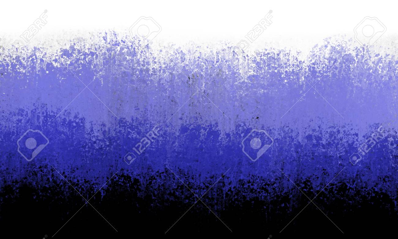 Blu Su Sfondo Bianco E Nero In Colori Sfumati Da Tonalità Scure A Tonalità Chiare Texture Di Vernice Spalmato Spugnoso Astratto Strisce Di Grunge