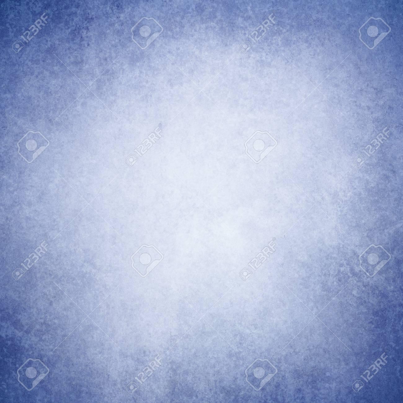 Blank Old White Background With Distressed Light Dark Navy Blue Border Design Textured Vintage Paper