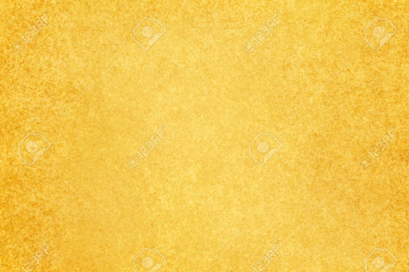 Vintage Yellow Gold Background With Textured Brown Stained Design