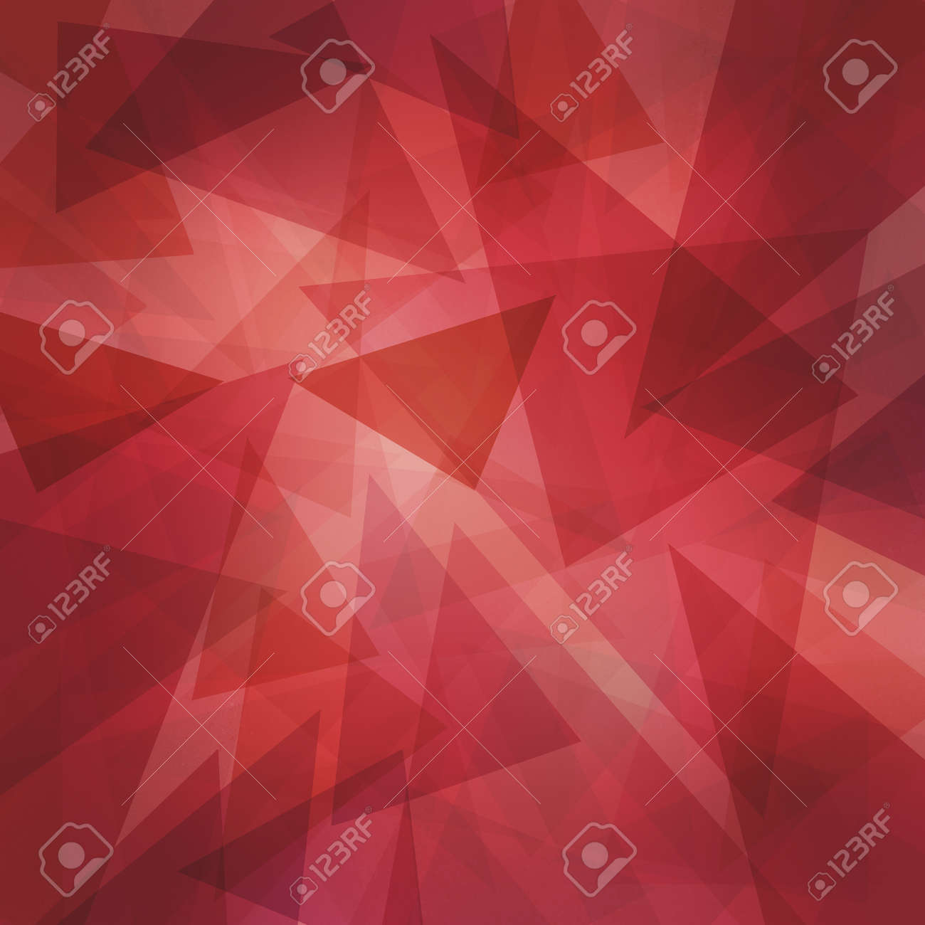 abstract modern red background with layers of floating transparent triangles - 151181609