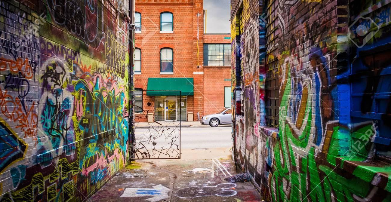 Graffiti wall baltimore - Graffiti Alley And Howard Street In Baltimore Maryland Stock Photo 26316136