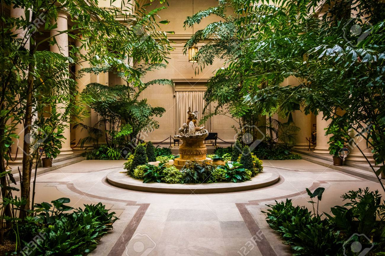 Indoor Garden Area In The National Gallery Of Art In Washington ...