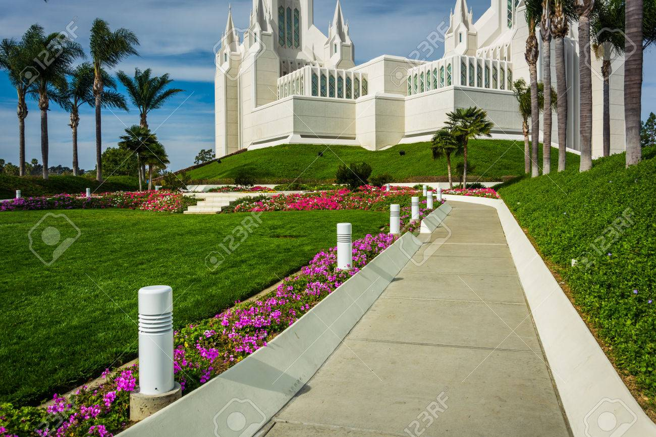 Gardens And Path At The Church Of Jesus Christ Of Latter-Day.. Stock ...