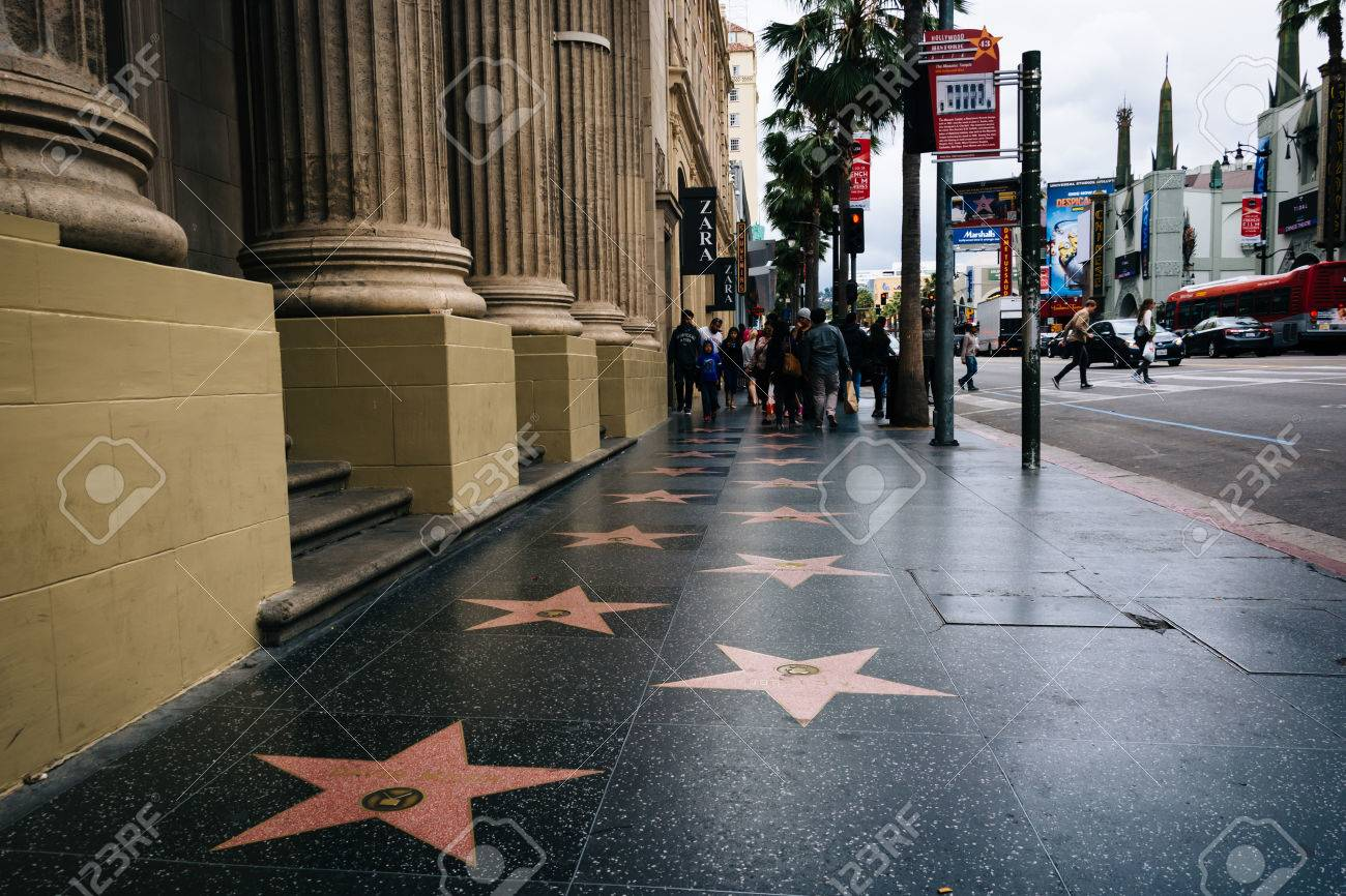 the hollywood walk of fame in hollywood los angeles california