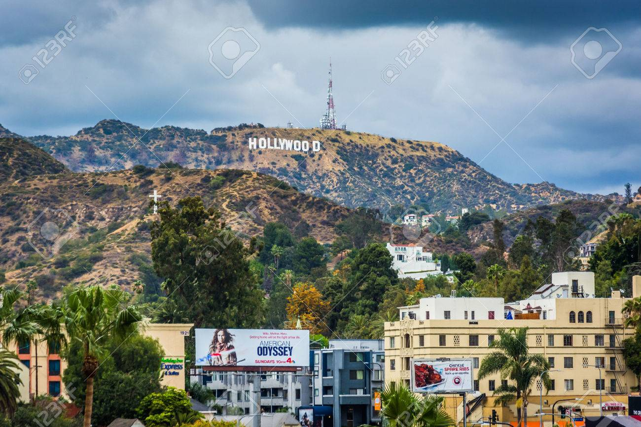 view of the hollywood sign in hollywood los angeles california