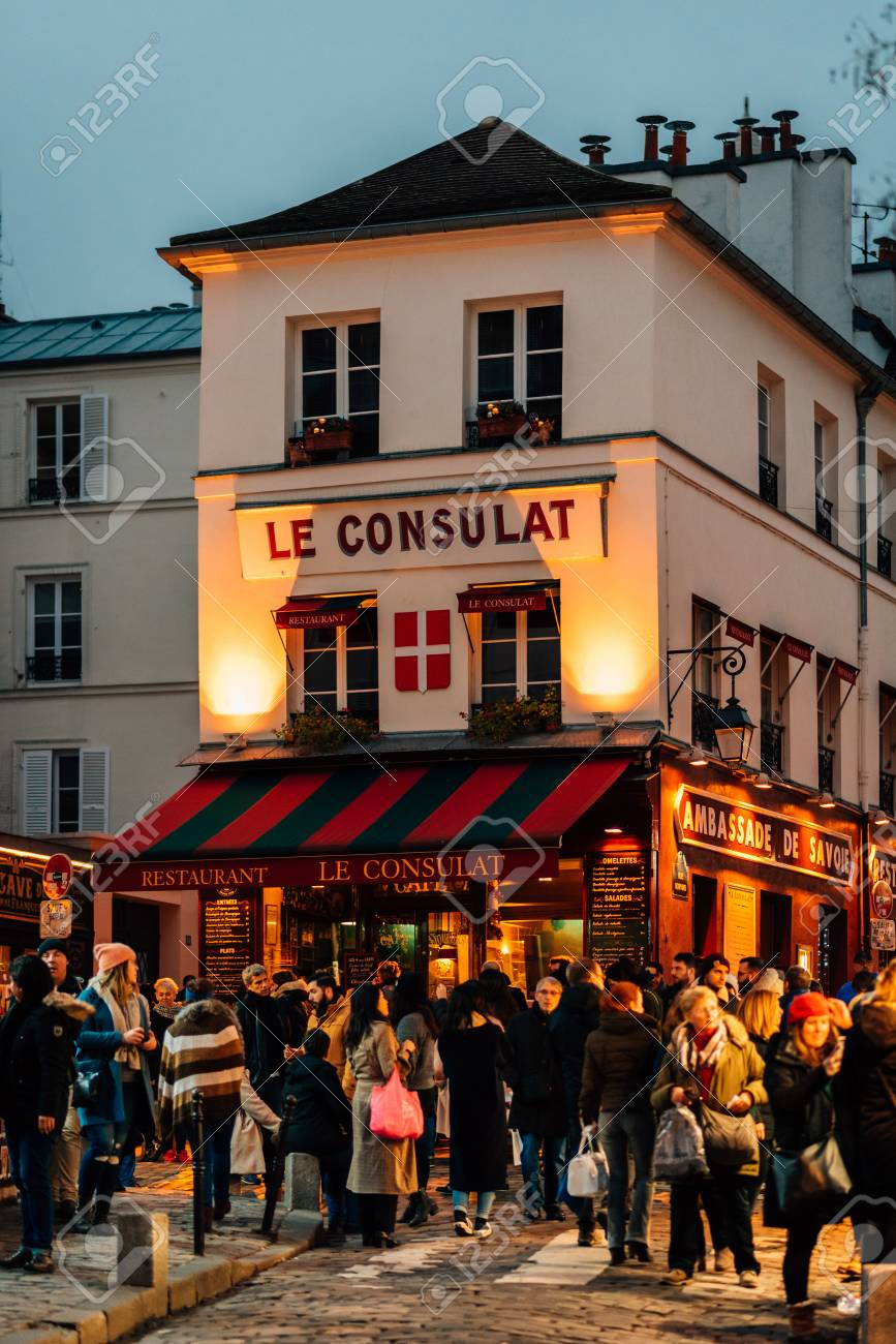 Le Consulat A Restaurant In Montmartre Paris France Stock Photo Picture And Royalty Free Image Image 115968814