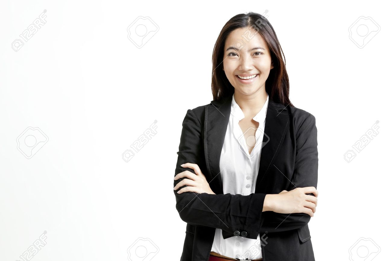 Portrait Of Young Business Woman In Formal Attire Isolated On ...