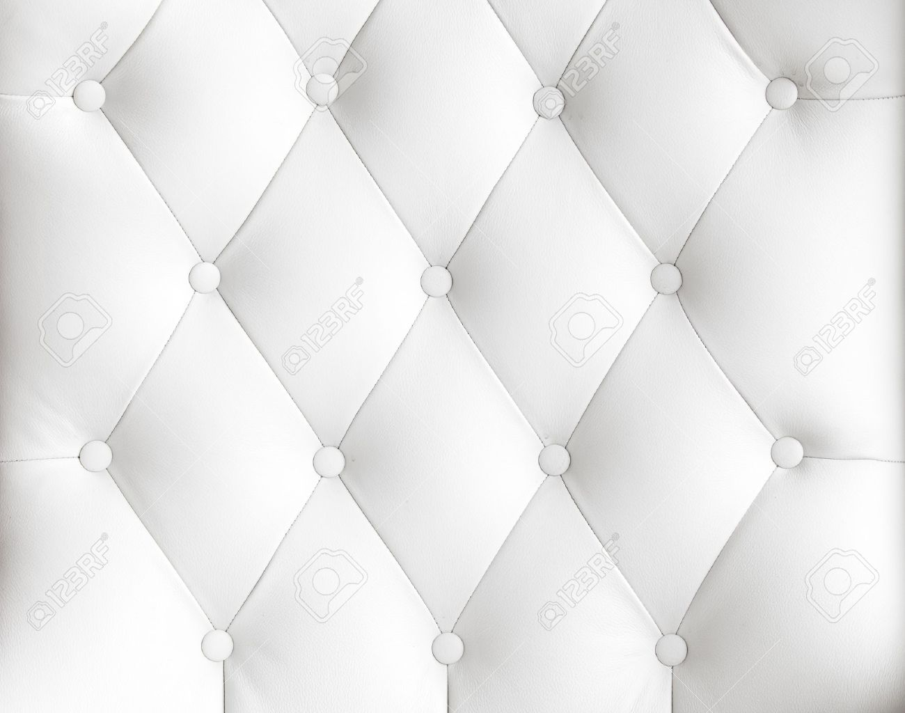 Stock Photo   White Leather Fabric From The Sofa