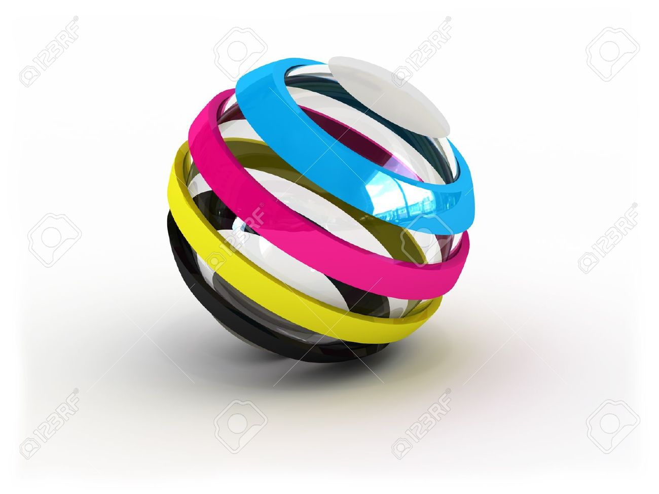 CMYK ball sign (image can be used for printing or web) - 11556555