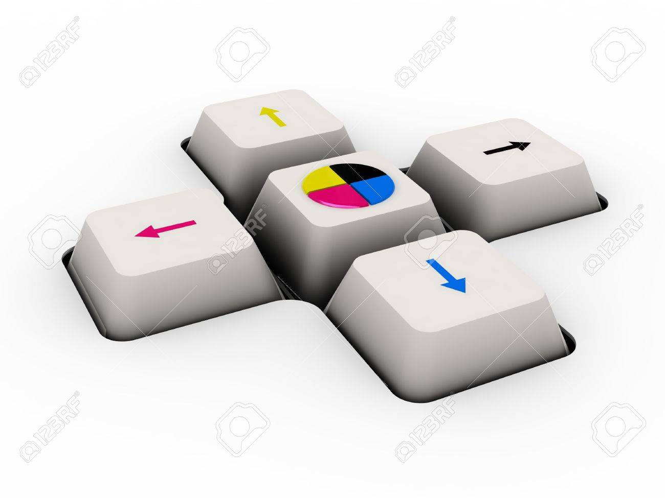 cmyk keyboard button (image can be used for printing or web) - 11556563