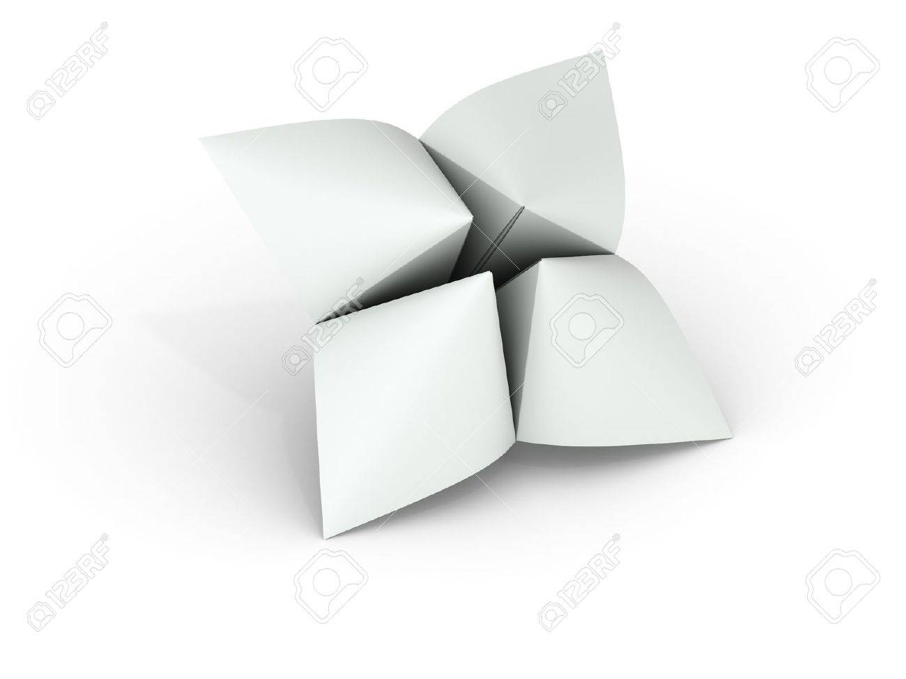 Blank paper fortune teller can be used as illustration for printing or web - 20227437
