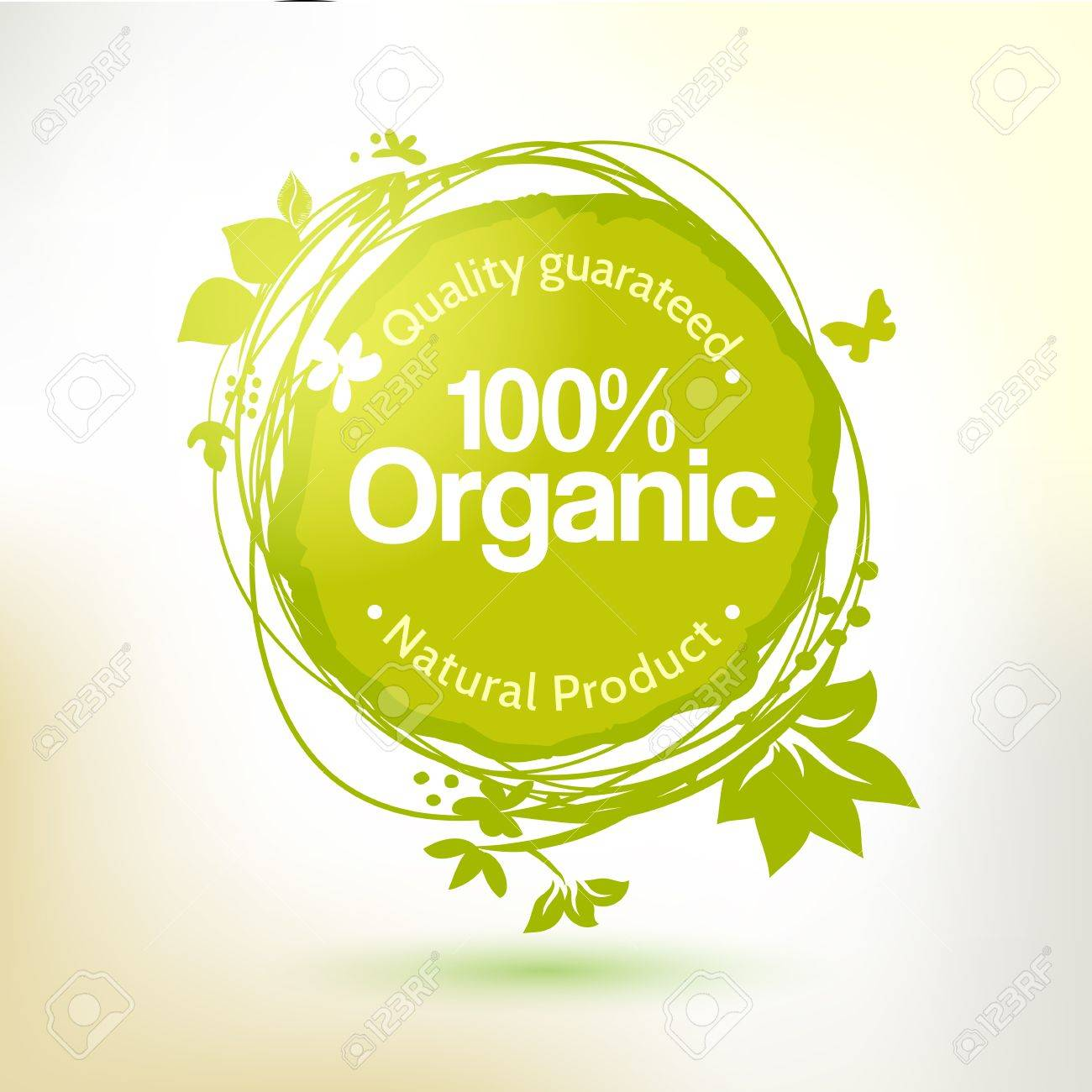 Vector watercolor hand drawing label for organic product. Sunny summer splash, sketch elements. Natural food element. Sketch food and drink sticker. Farm offer. - 38280868