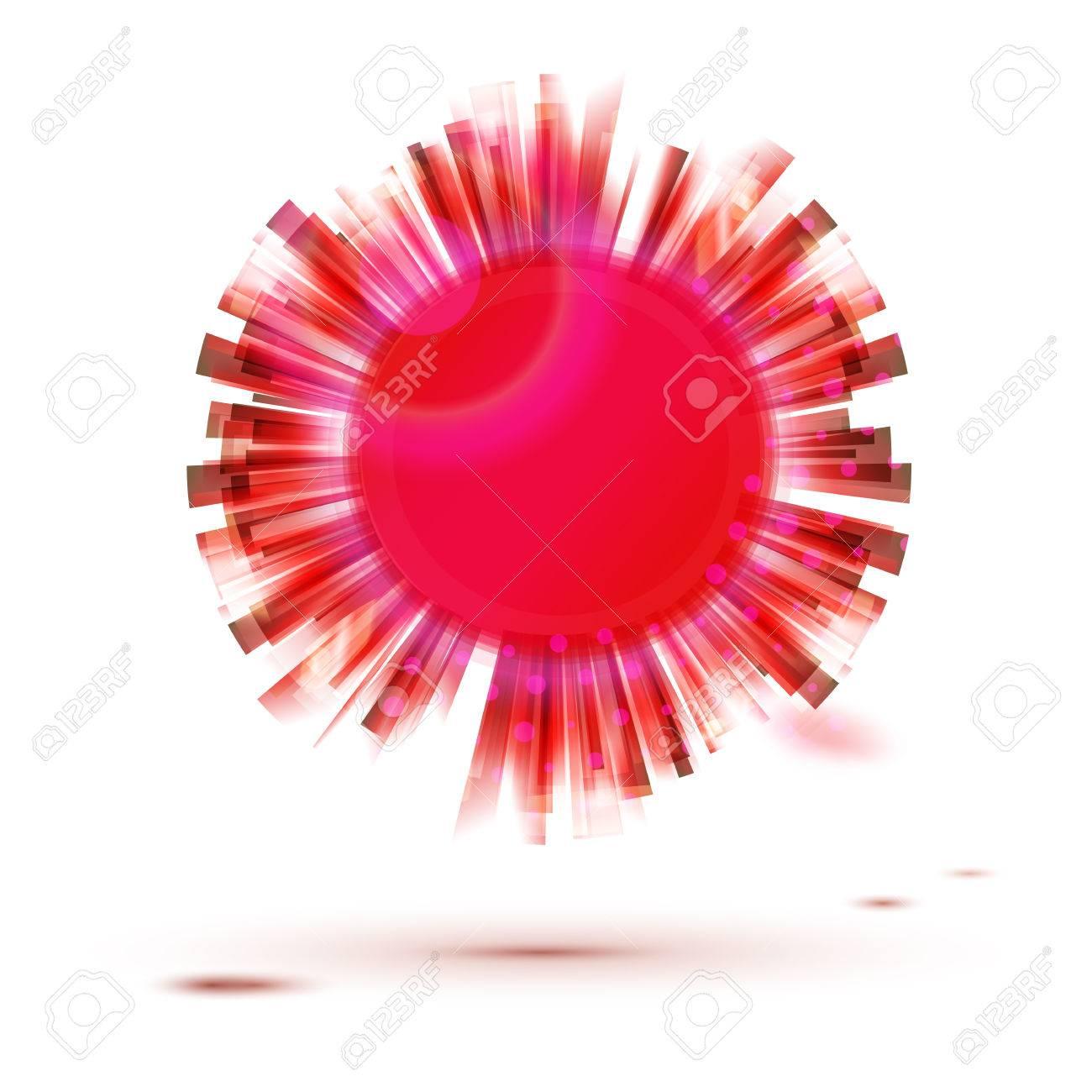 Roter Kreis Kreativen Form Label Zusammenfassung Vektor Emblem