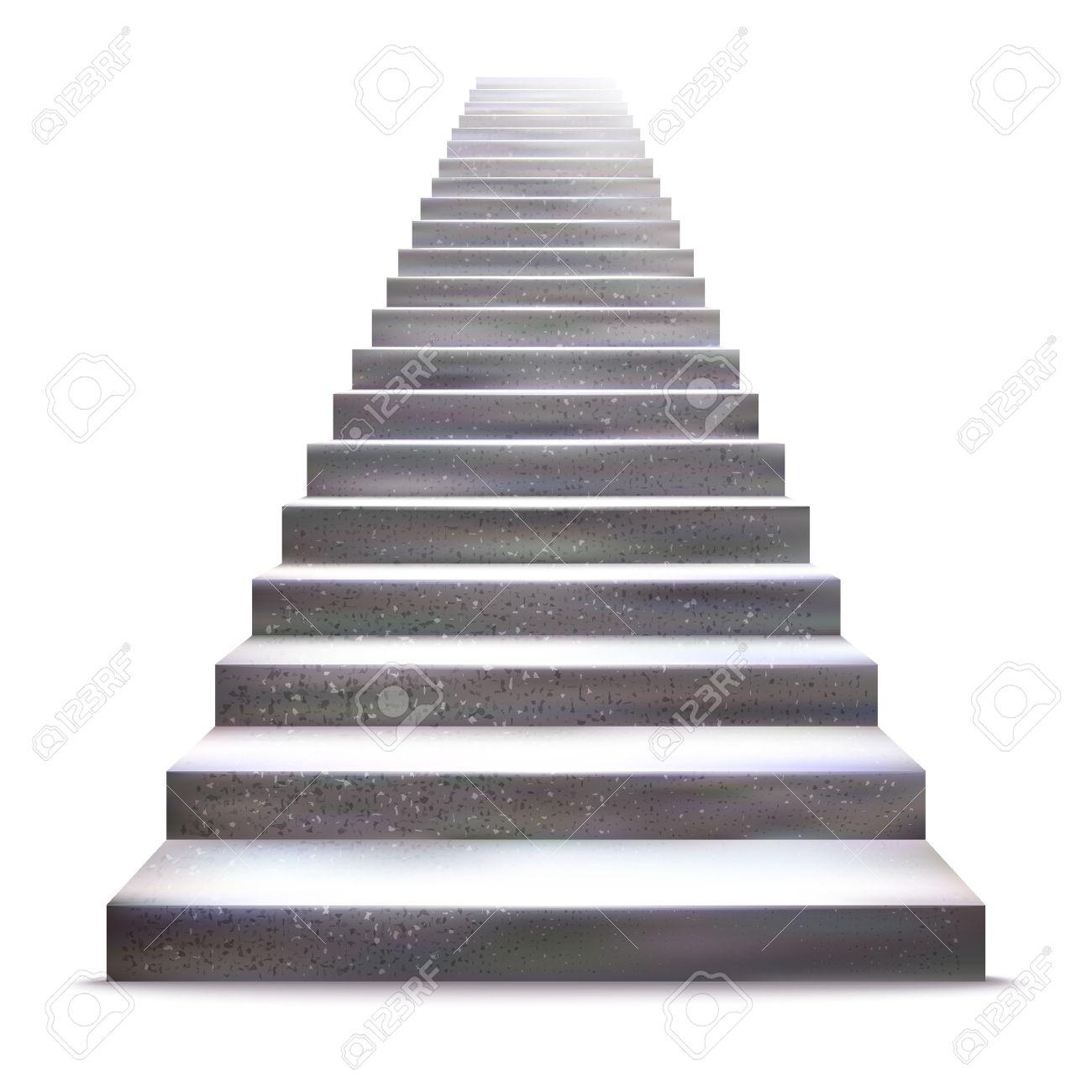 Realistic stone ladder illustration. - 41930451