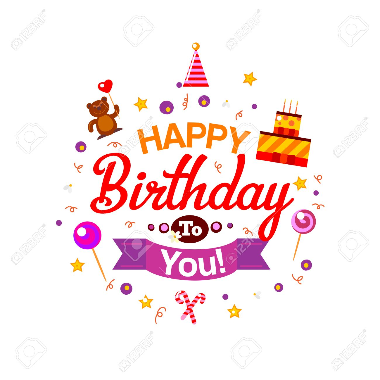 Vector happy birthday card birthday cake and gifts vector 53594282 vector happy birthday card birthday cake and gifts vector illustration happy birthday kids party invg stopboris Gallery