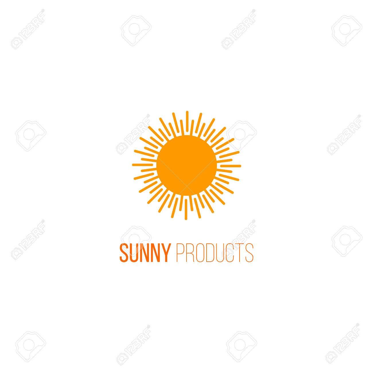 6db3b66b5dae Abstract Sun Icon. Organic And Fresh Natural Product Logo. Sunny ...