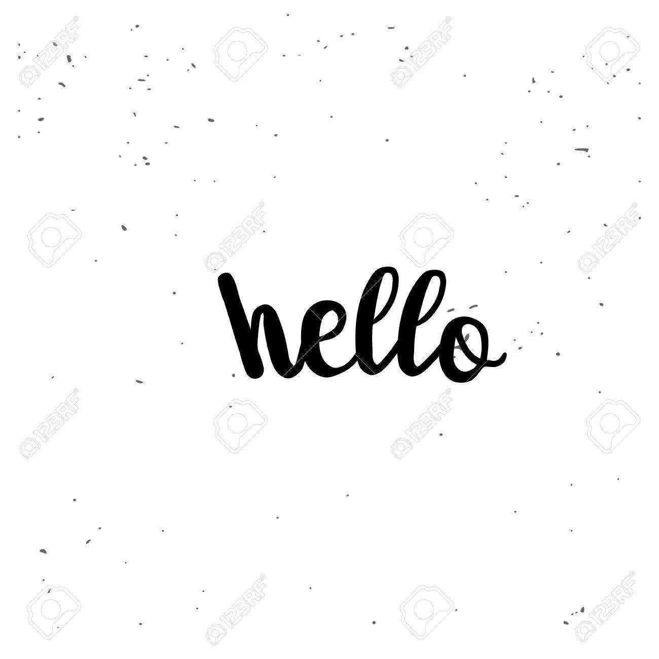 bonjour. citation inspirée noir isolé sur fond blanc. vector