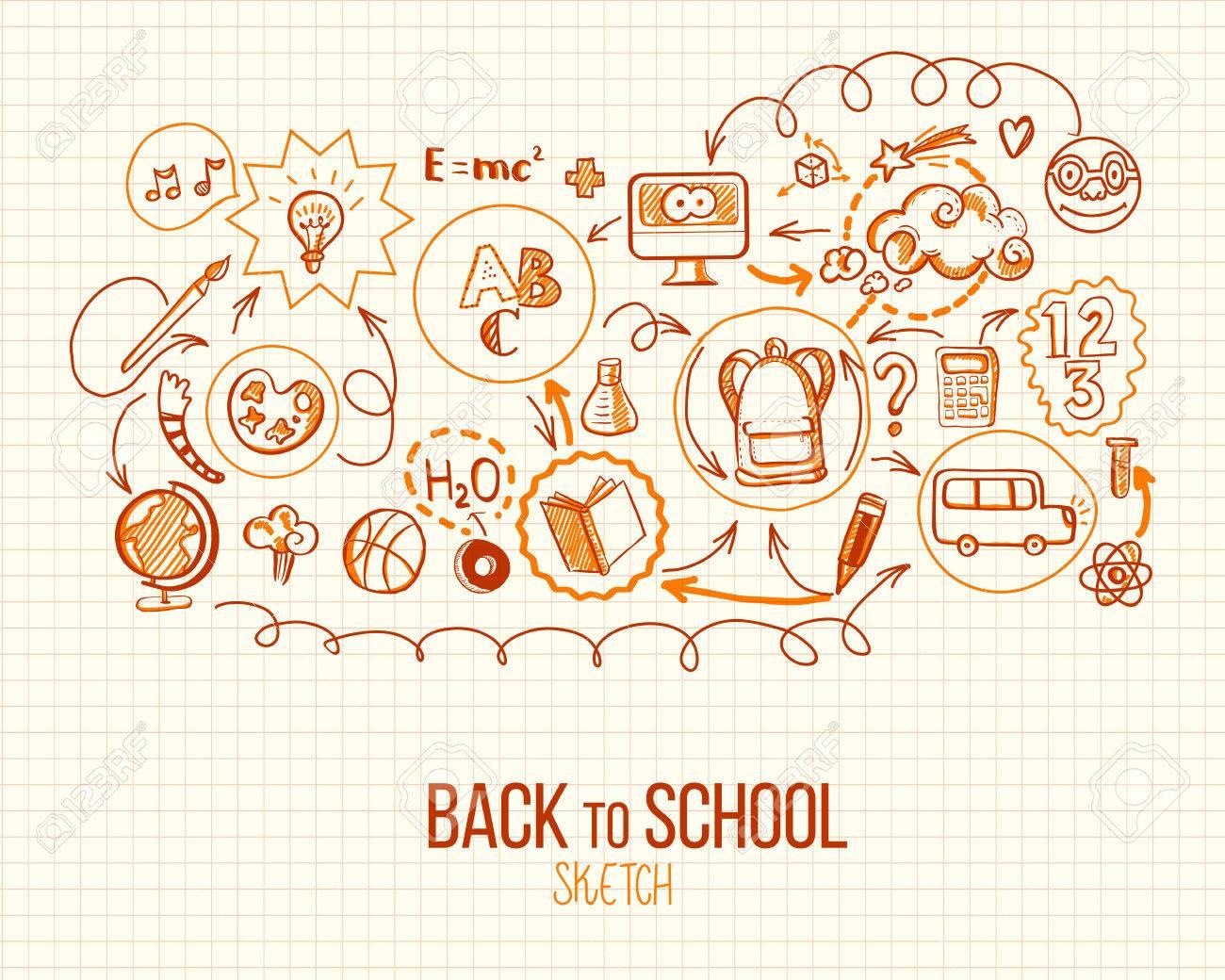 Back To School Infographic. Vector Illustration Of School Supplies ...