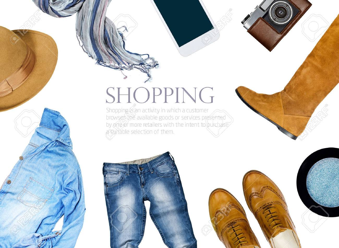 collection collage of women's clothing Stock Photo - 48098613