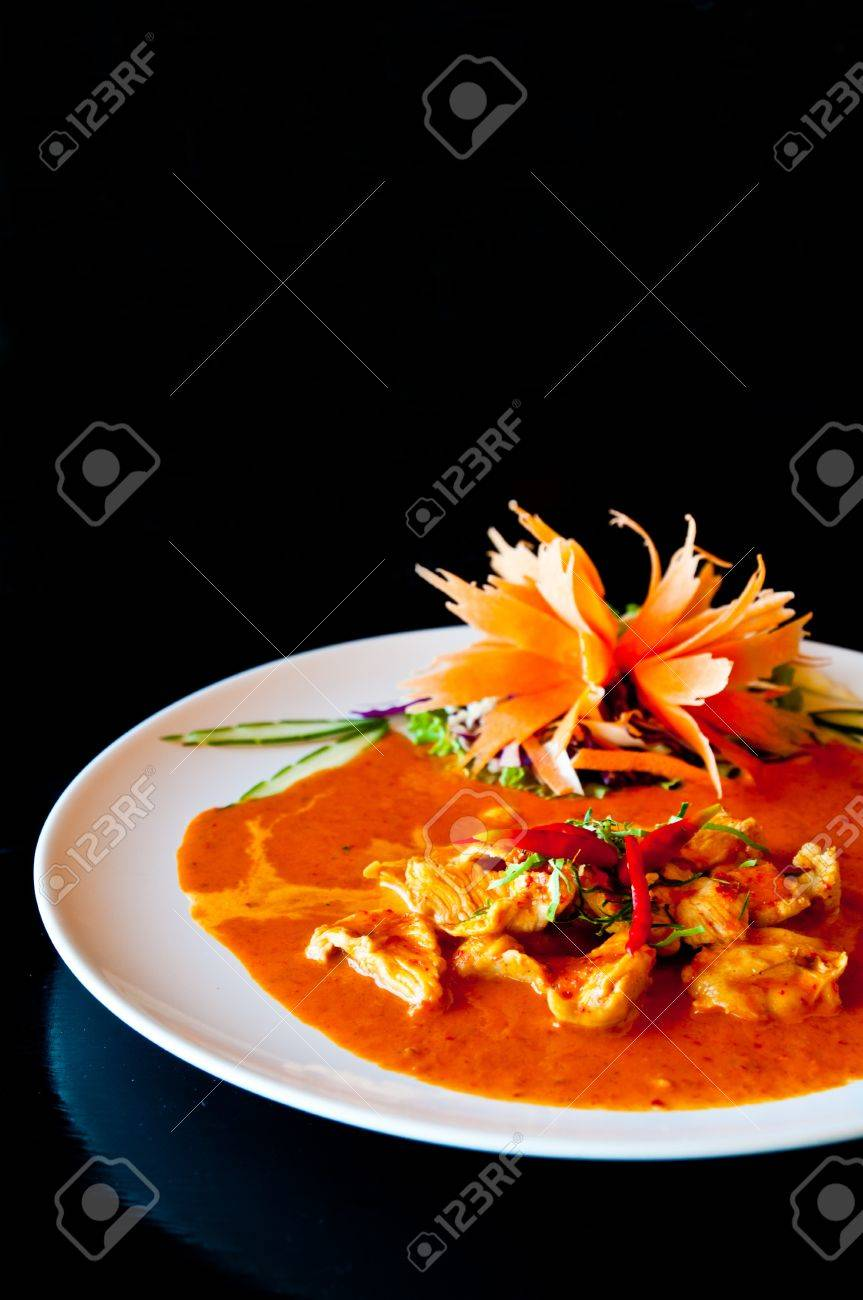 9a3b21e2 Chicken Red Curry Spicy Thai Food Stock Photo, Picture And Royalty ...