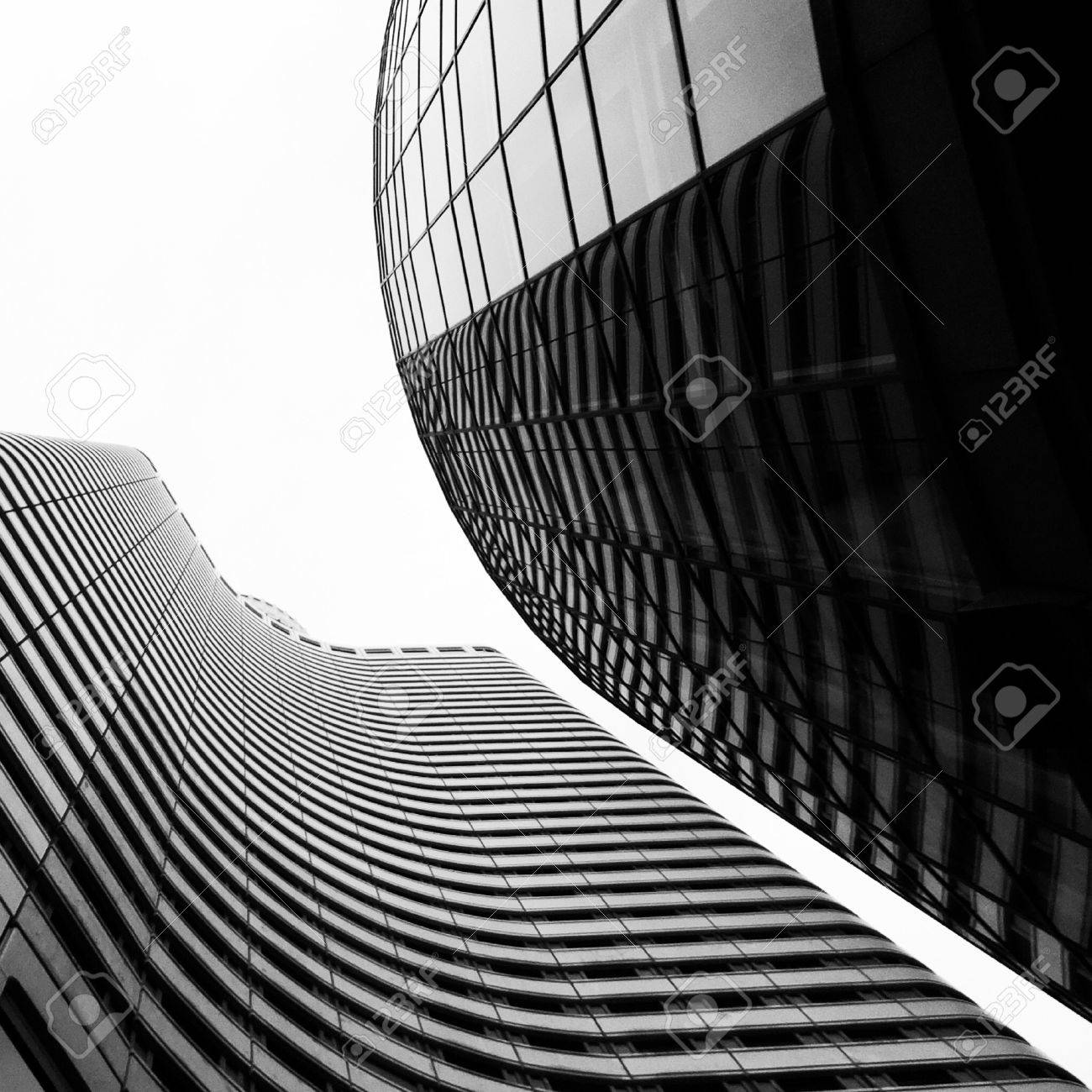 Highrise Buildings Form Abstract Composition Stock Photo, Picture ...