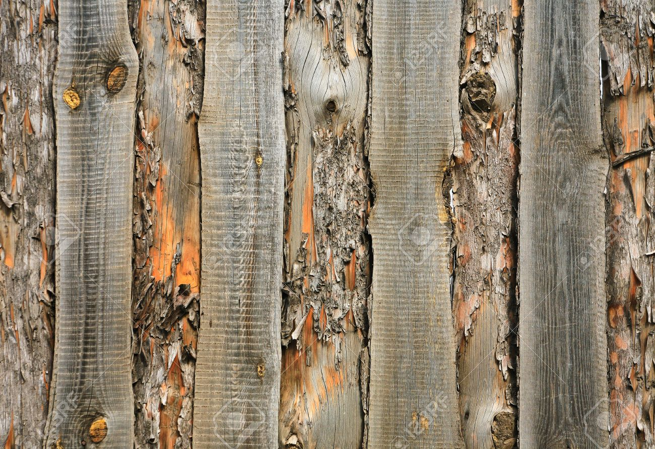 Wooden Fence Hammered Together From Rough Pine Boards Stock Photo ...