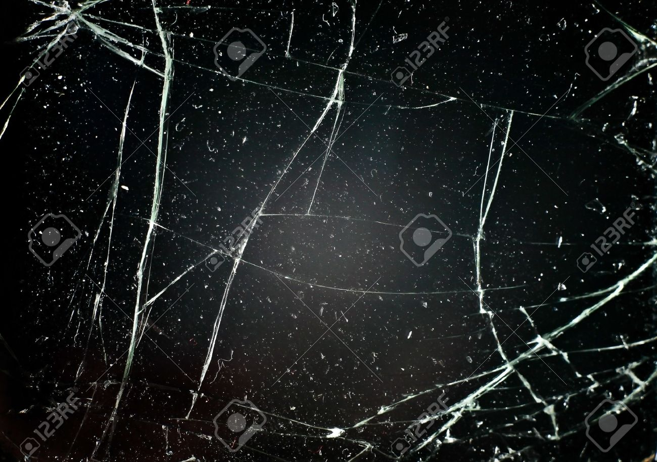 Cracked Glass Glass With Cracks on Black