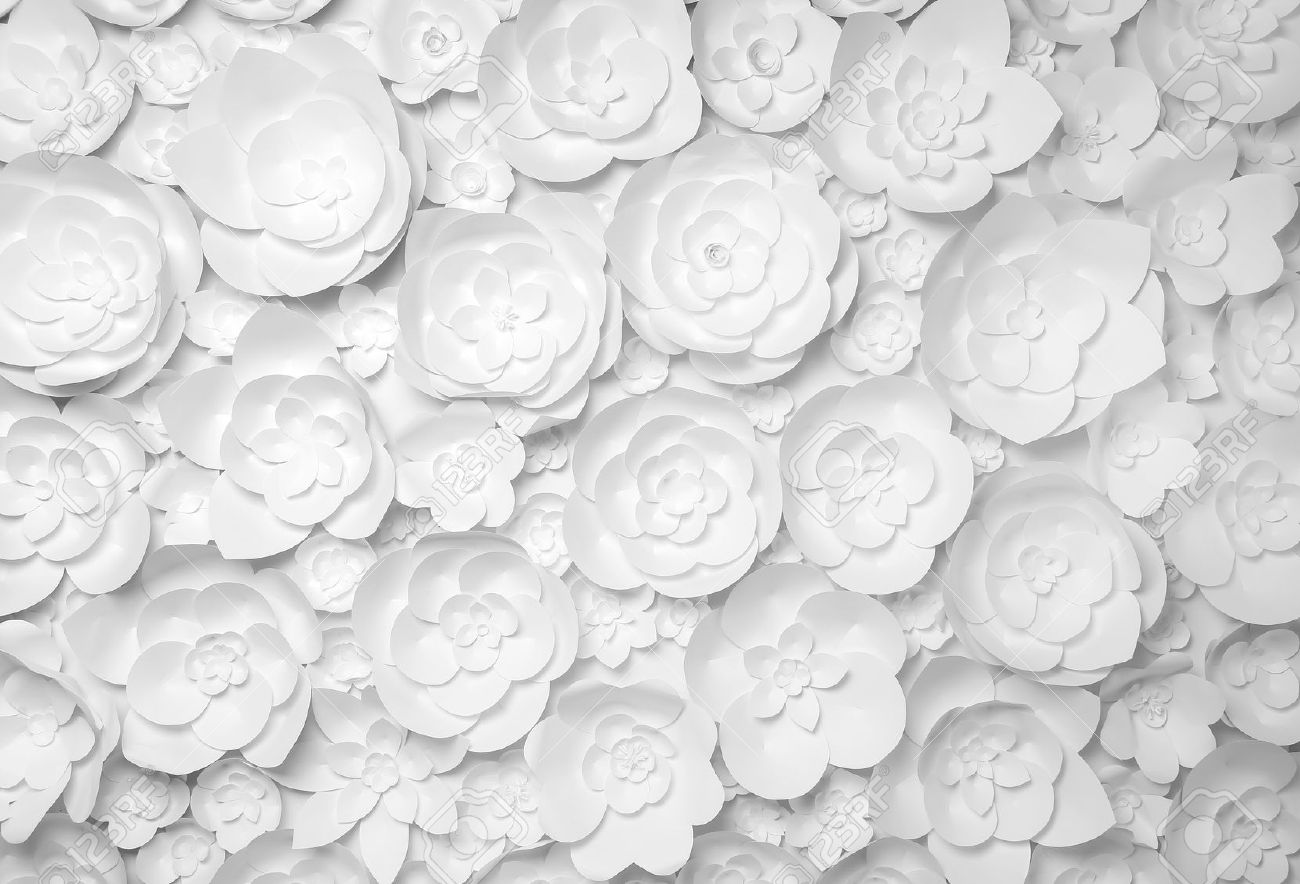 White paper flowers on white background stock photo picture and stock photo white paper flowers on white background mightylinksfo