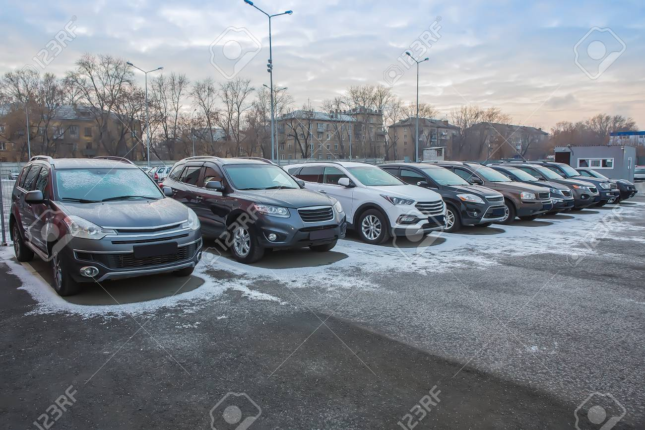 Cars For Sale Stock Lot Row  Car Dealer Inventory