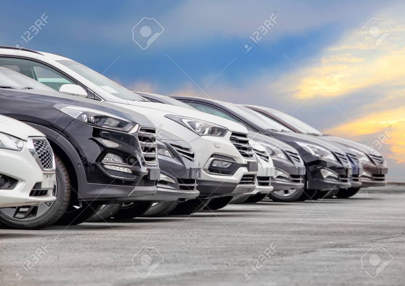 Cars For Sale Stock Lot Row. Car Dealer Inventory - 120211516